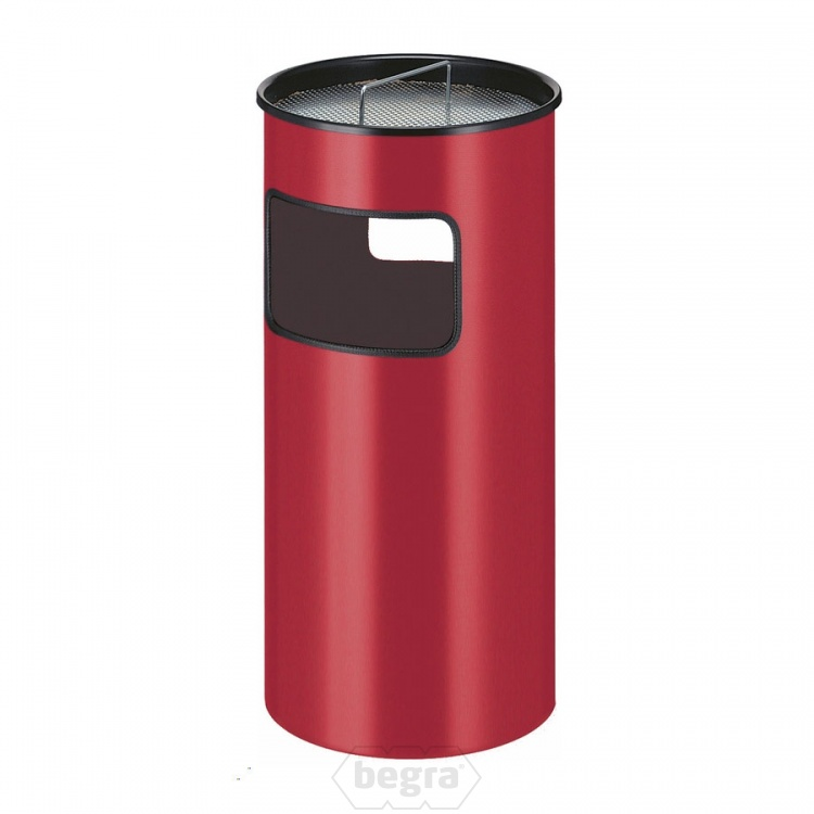 Metalen as-papierbak 50 liter rood