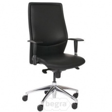 Berne manager-fauteuil hoge rug half leather