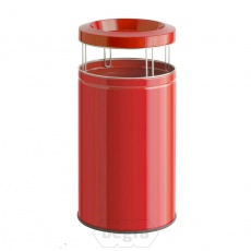 Big Ash as-papierbak Wesco 120 liter rood