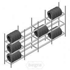 Voordeelrij bandenstelling Medium Duty 2000x4000x700 4 secties 3 niveaus